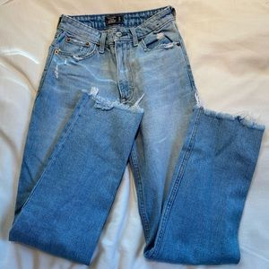 Abercrombie ankle straight jeans